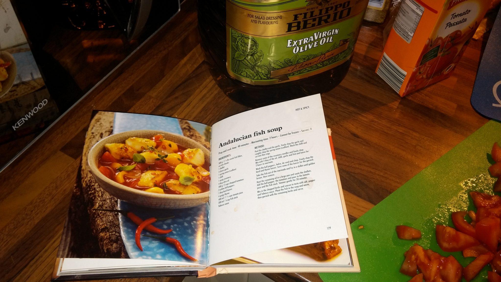 Test Kitchen: Andalucian fish stew (yum yum yum)!