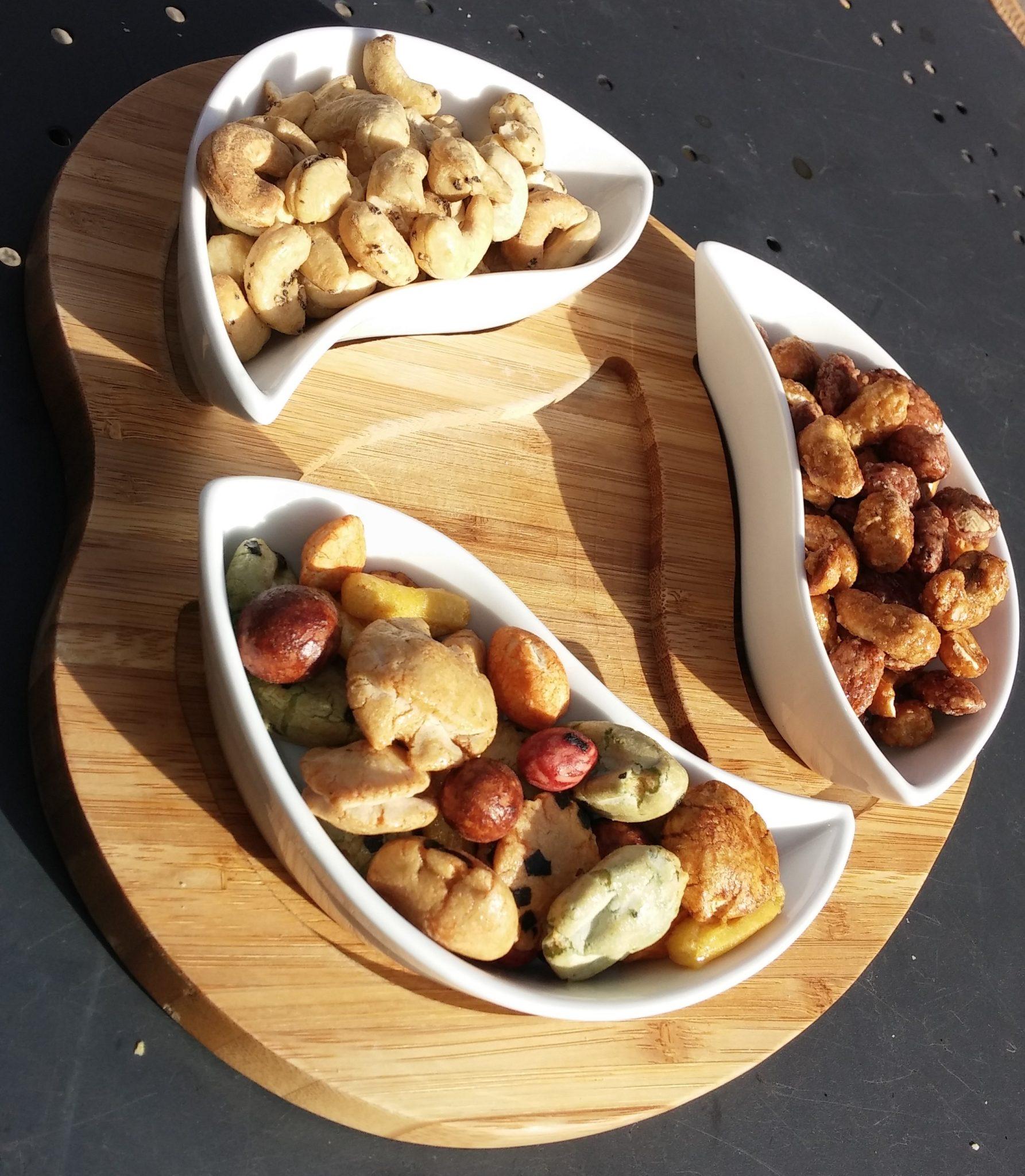 Blacksmiths Loft_Cashews, nuts, Japanese crackers