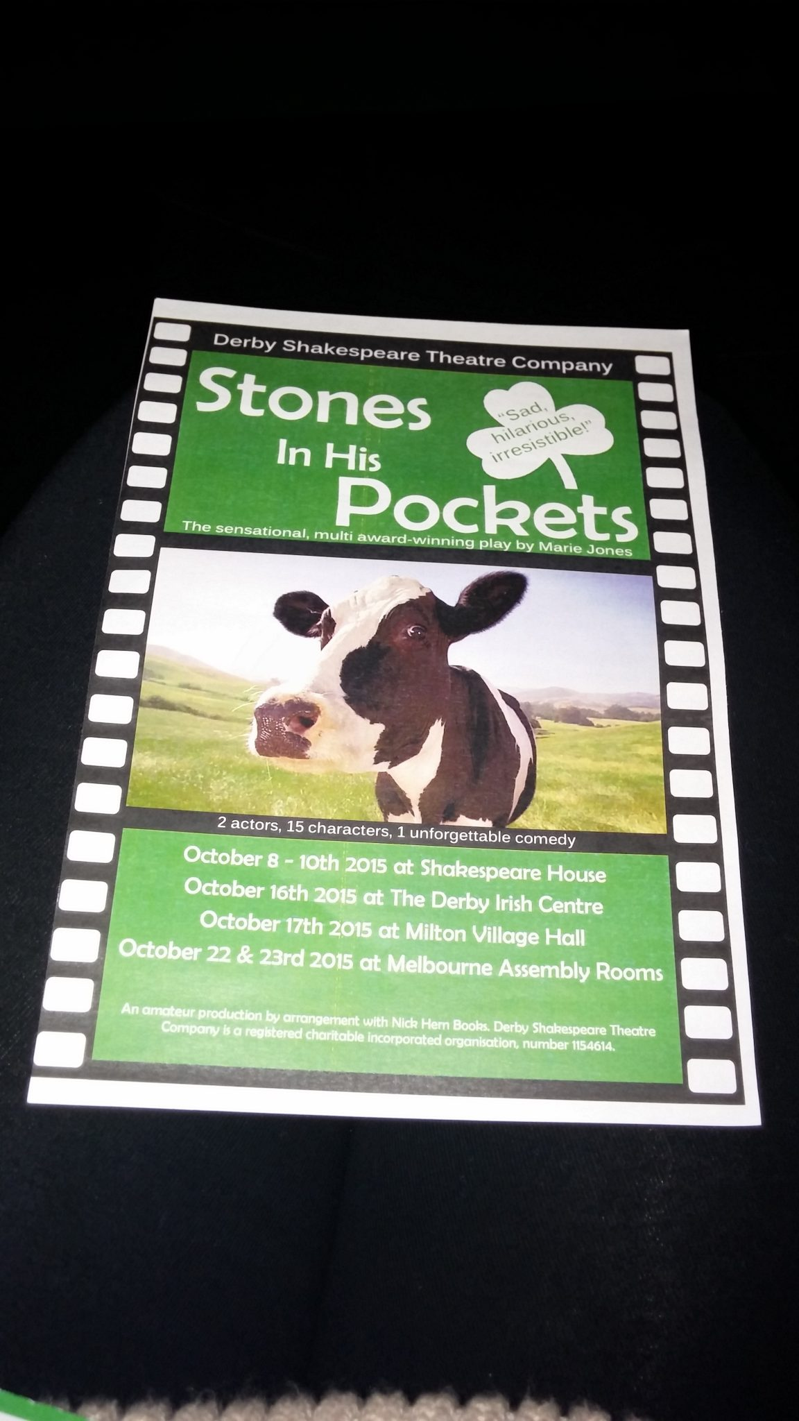Theatre Review: Stones in his Pockets (Marie Jones); Derby Shakespeare Theatre Company