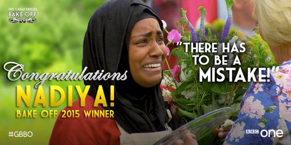 All hail Queen Nadiya, #GBBO Champion 2015
