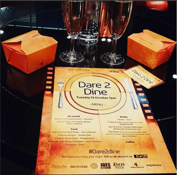 Innovative #Dare2Dine at Intu Derby