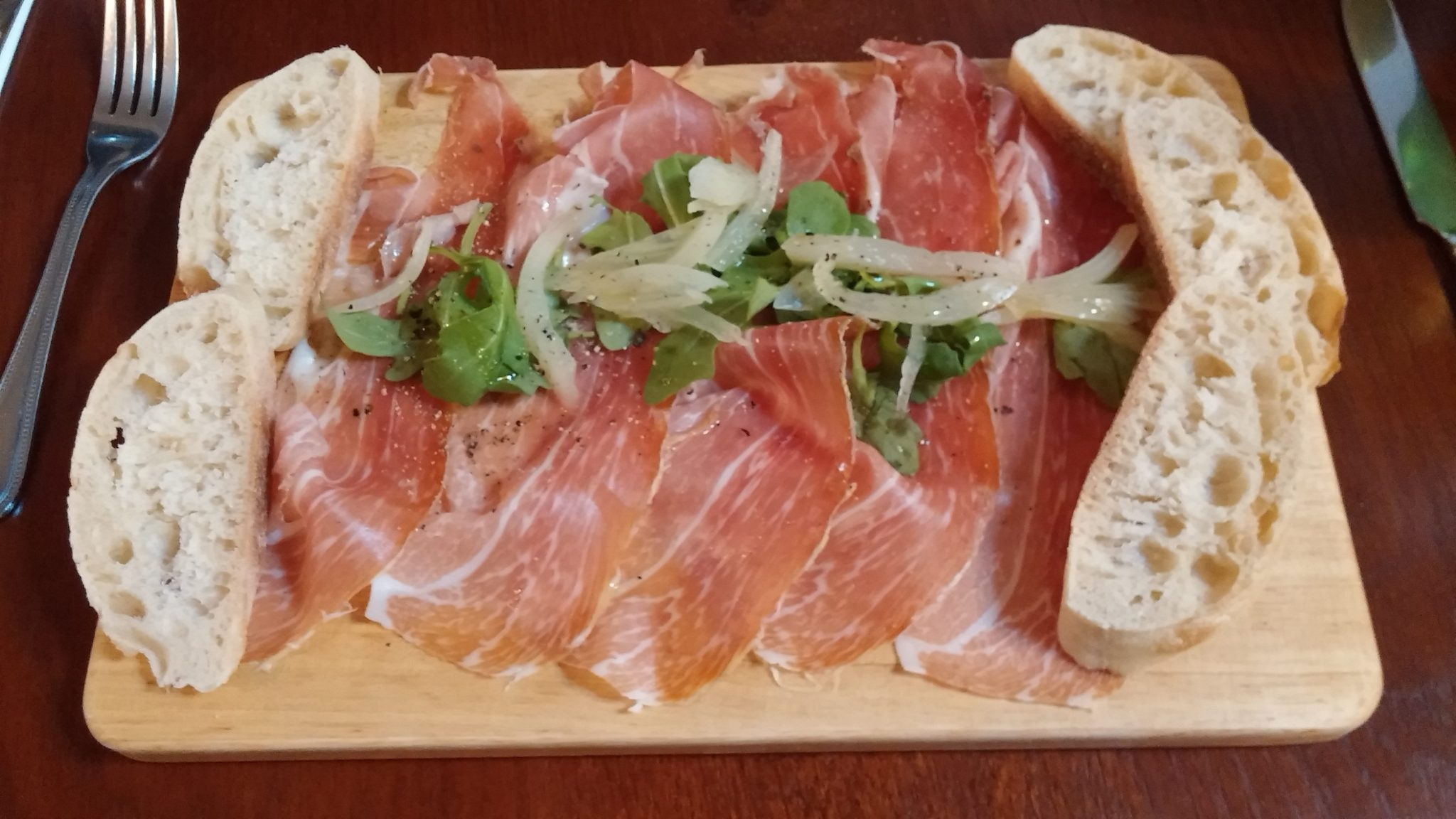 18mth aged parma ham & pickled fennel