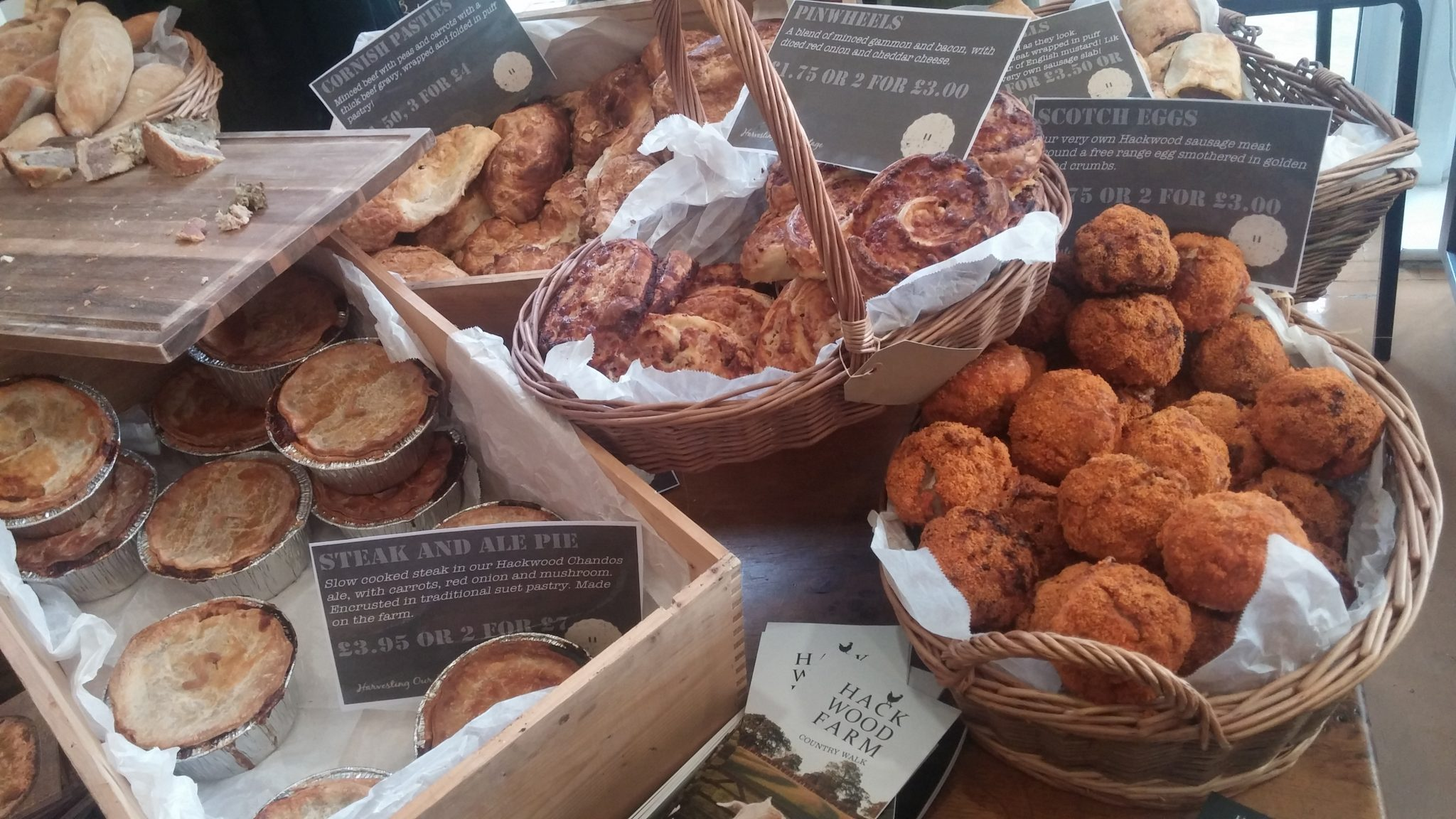 Breads, pies, pastries from Hackwood Farm, Derby