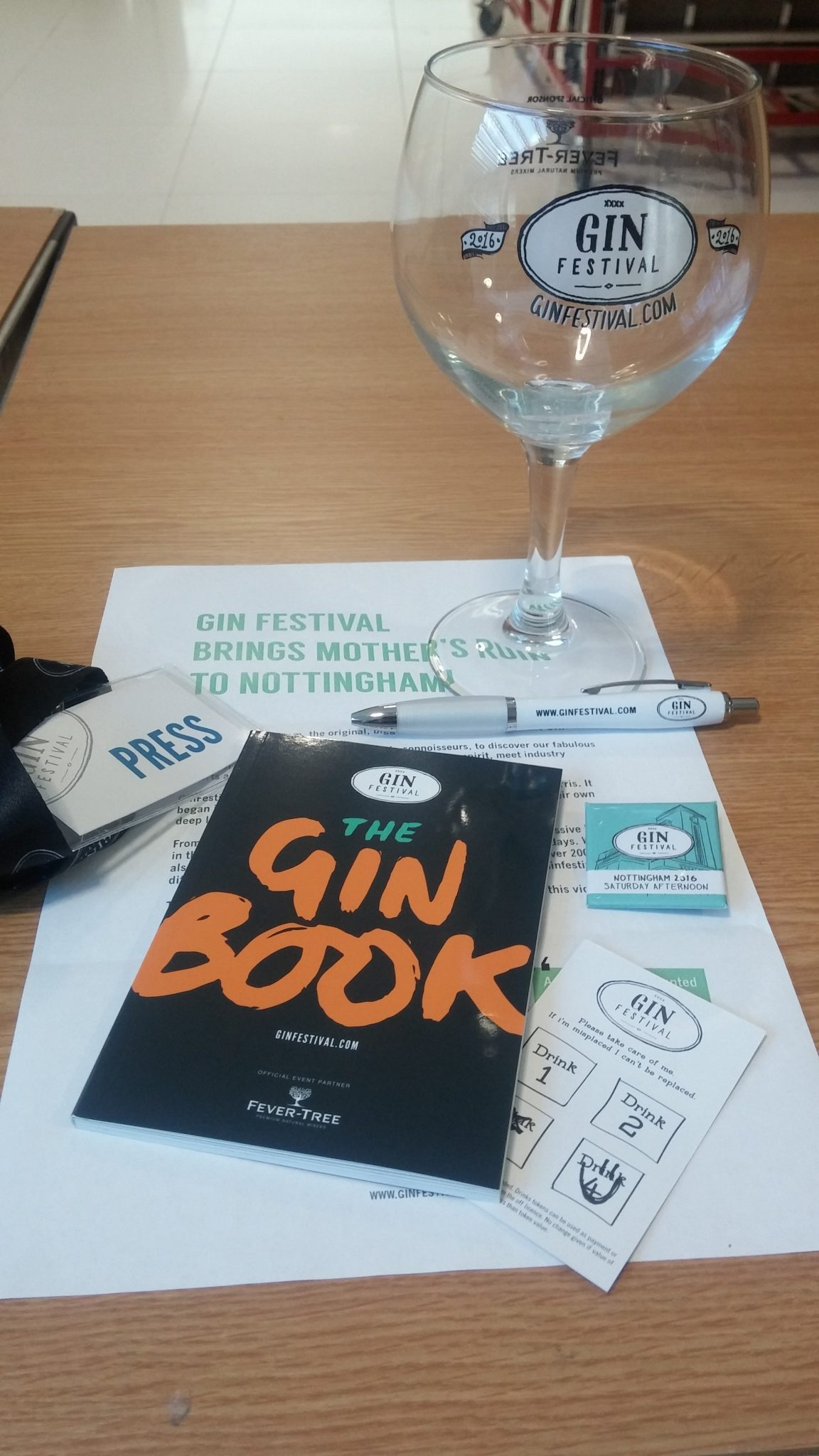 Post event write-up: The Gin Festival, Nottingham