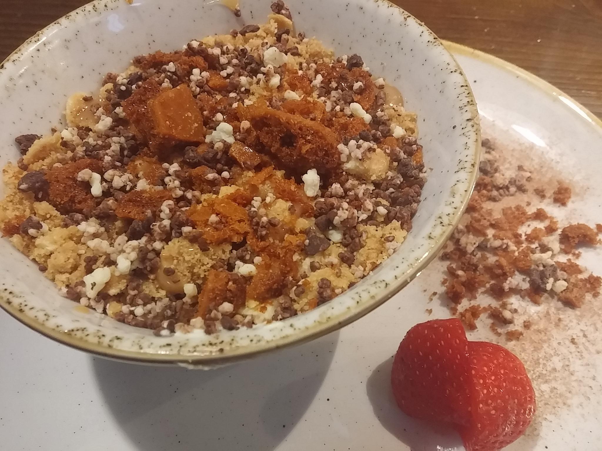 Honeycomb, toffee cheesecake.