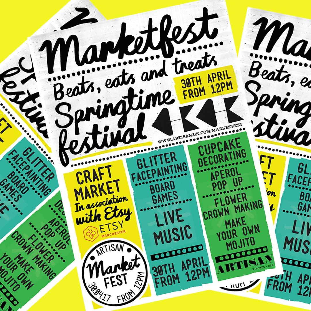 SPRINGTIME MARKETFEST @ ARTISAN MANCHESTER – SUNDAY 30 APRIL