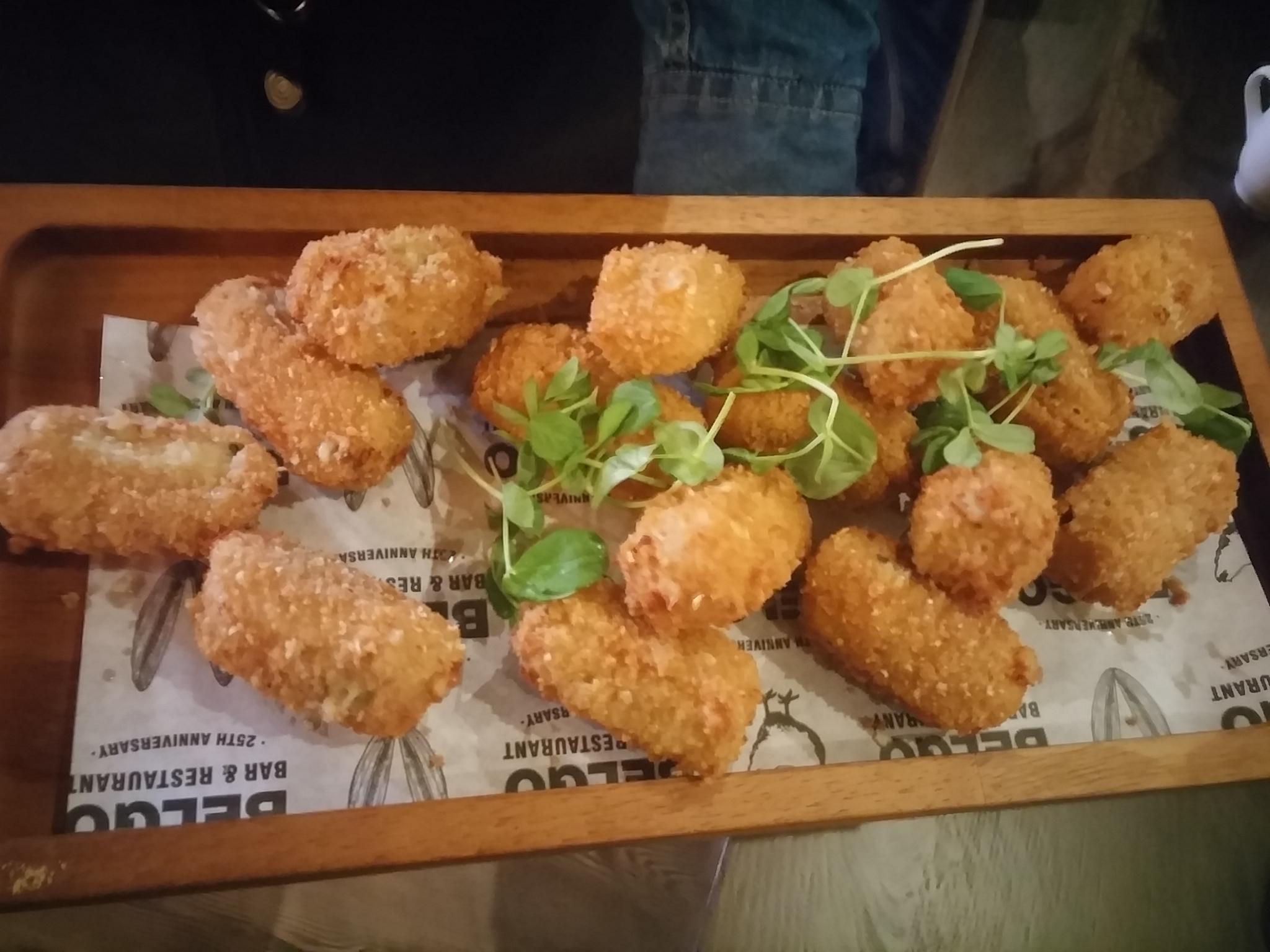 Cheese & beer croquettes, Belgo Nottingham
