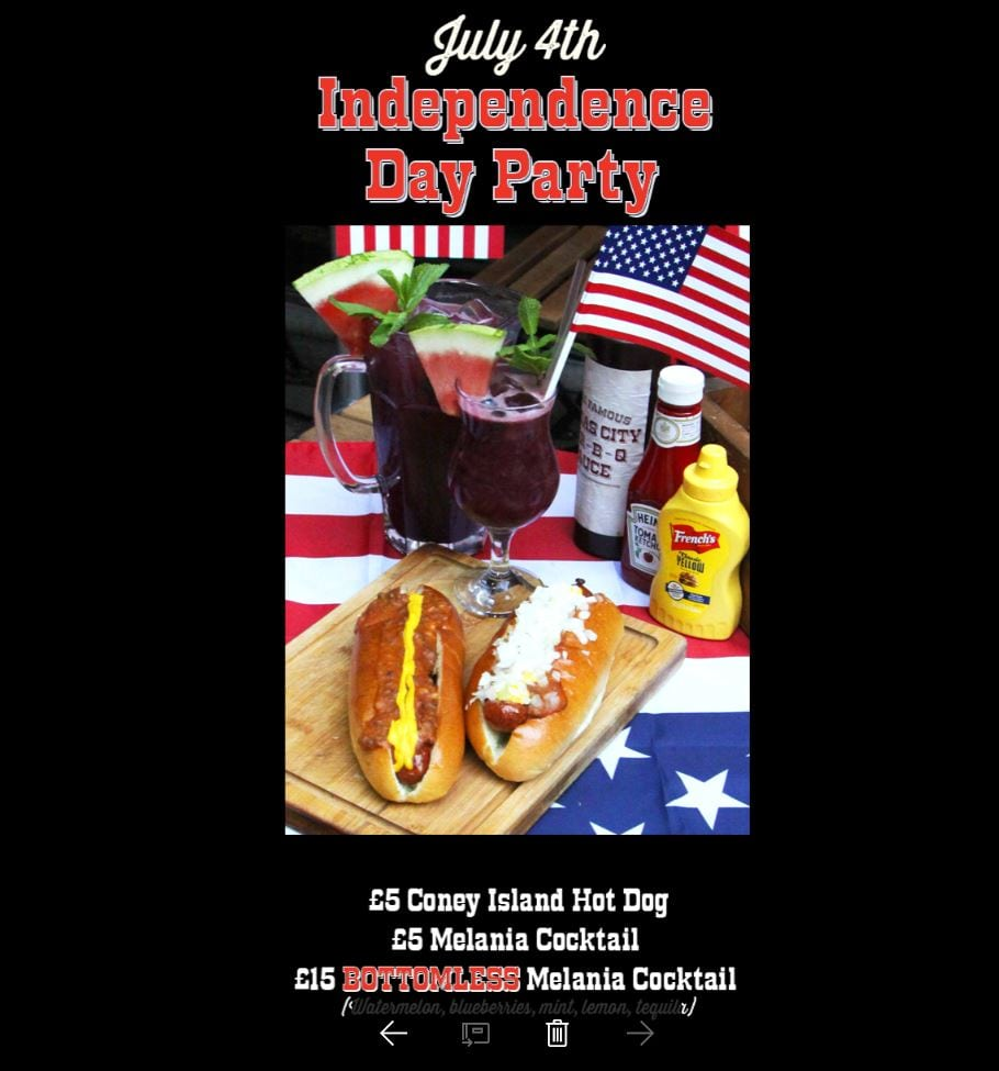 CELEBRATE INDEPENDENCE DAY WITH RED DOG SALOON, NOTTINGHAM
