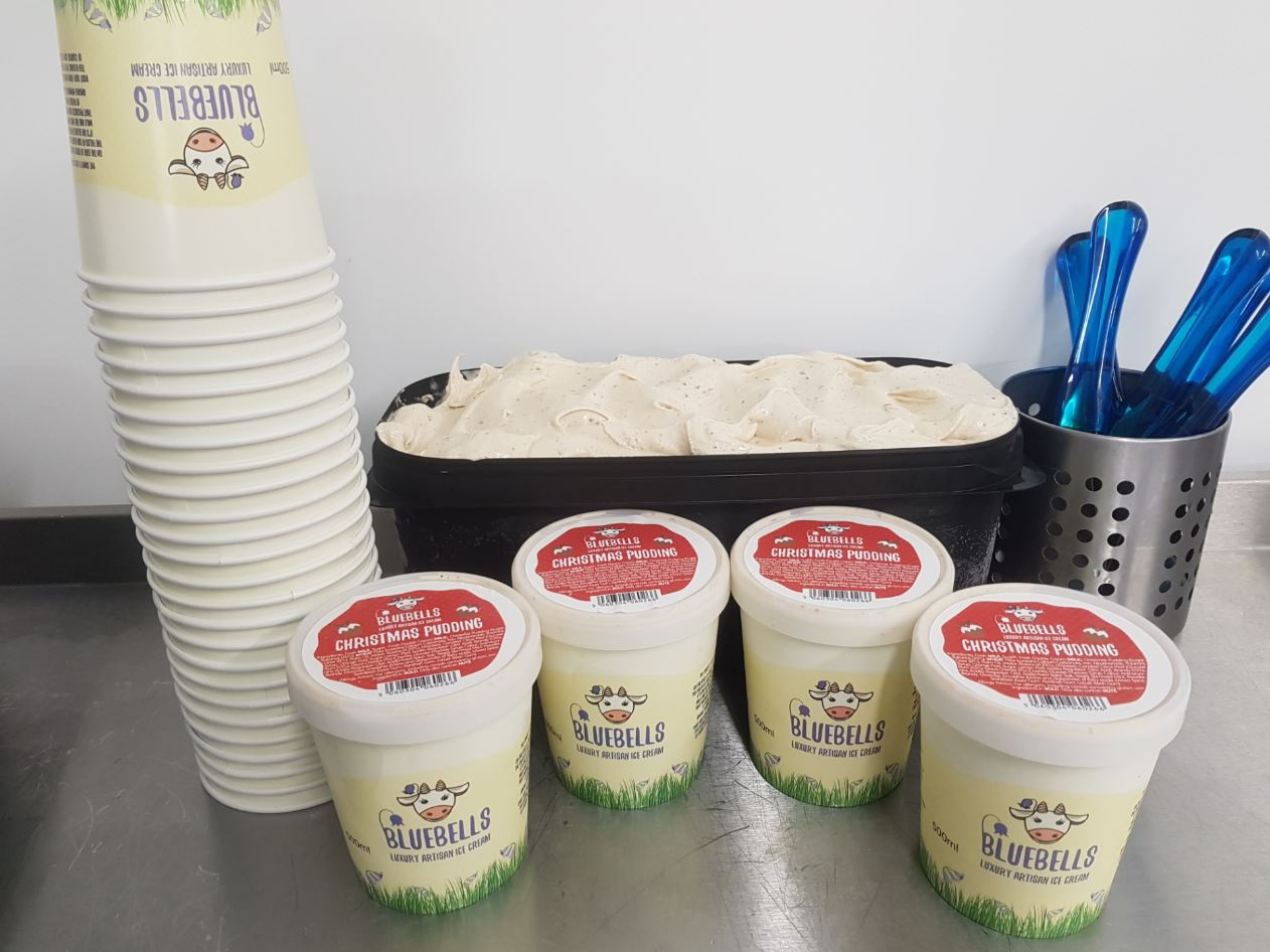 ICE CREAM TASTING AT BLUEBELL DAIRY, DERBY