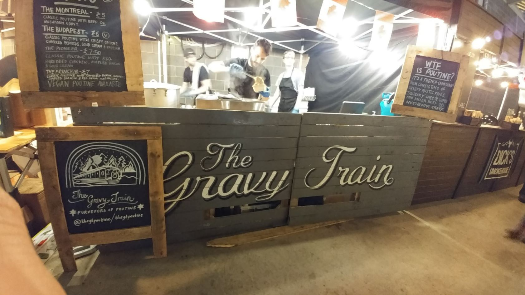 THE GRAVY TRAIN ROLLS INTO DERBY'S BUSTLER MARKET