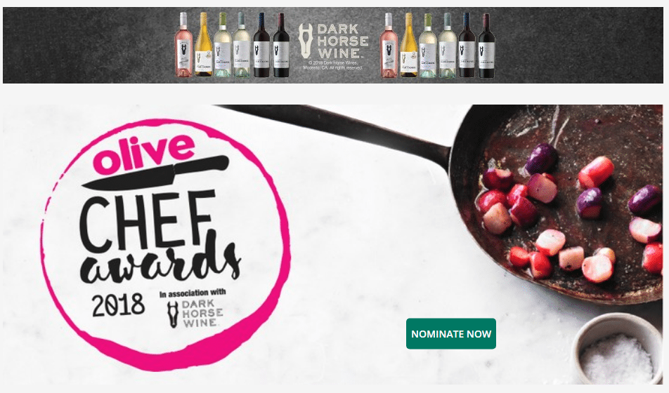 OLIVE MAGAZINE CHEF AWARDS 2018