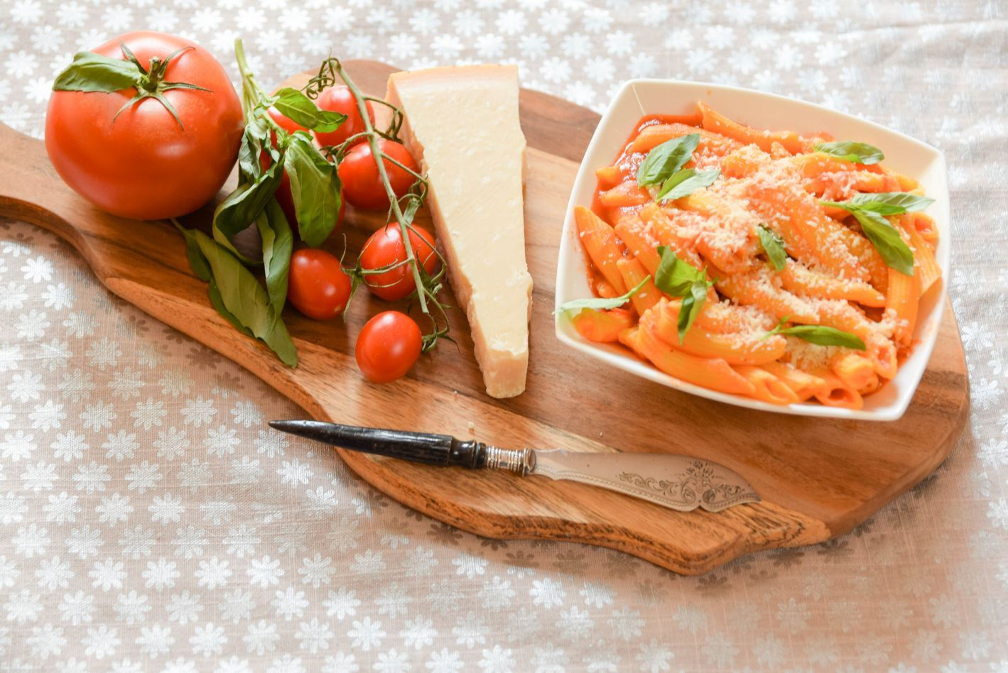 Artisan penne tomato sauce Parmesan