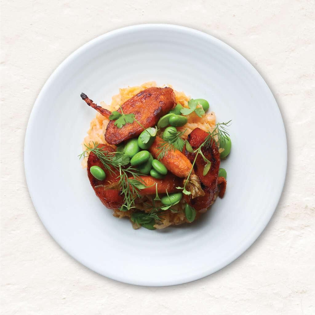 Vegan Korean gochujang carrots
