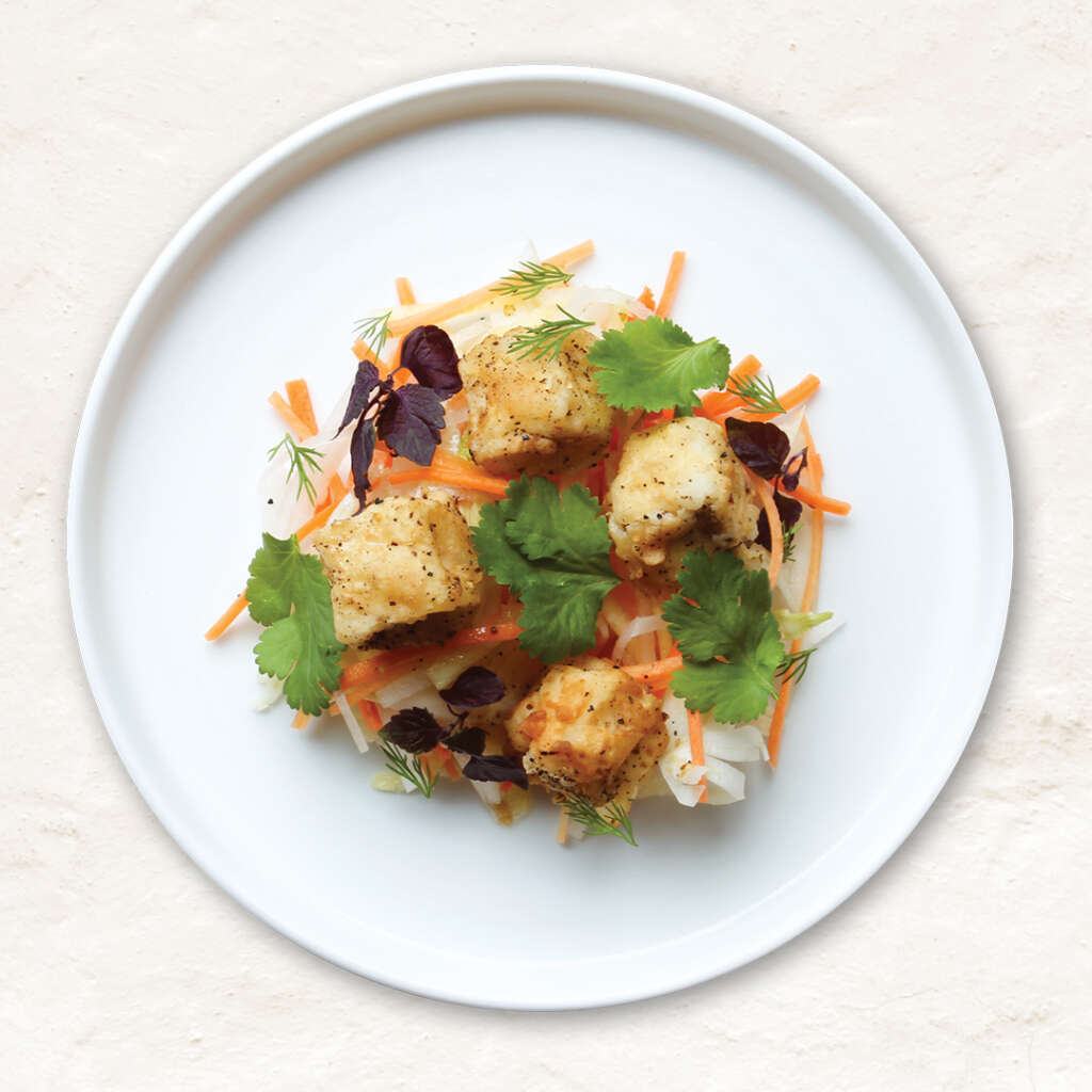 Vegan salted crispy tofu