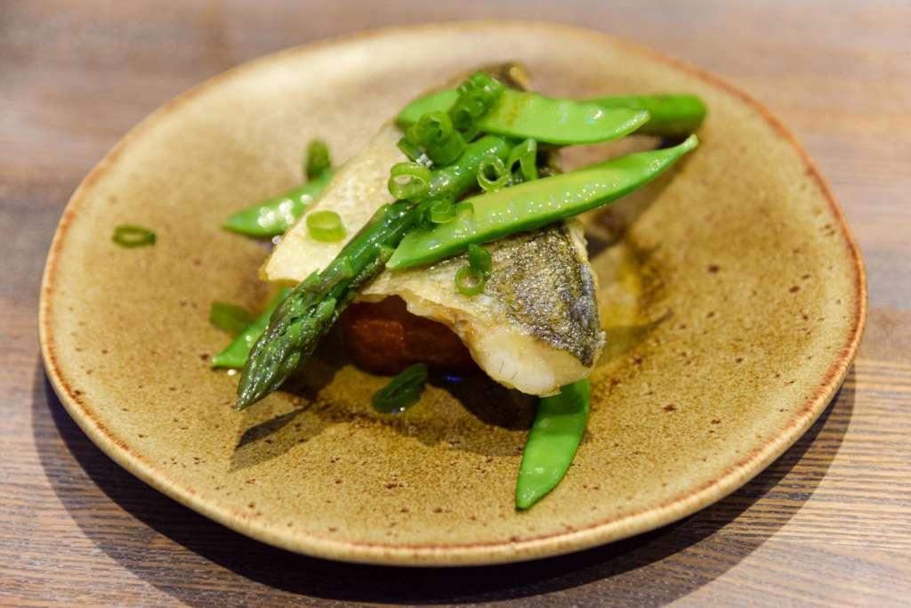 Grilled seabass at ViDa by Lorentes Nottingham