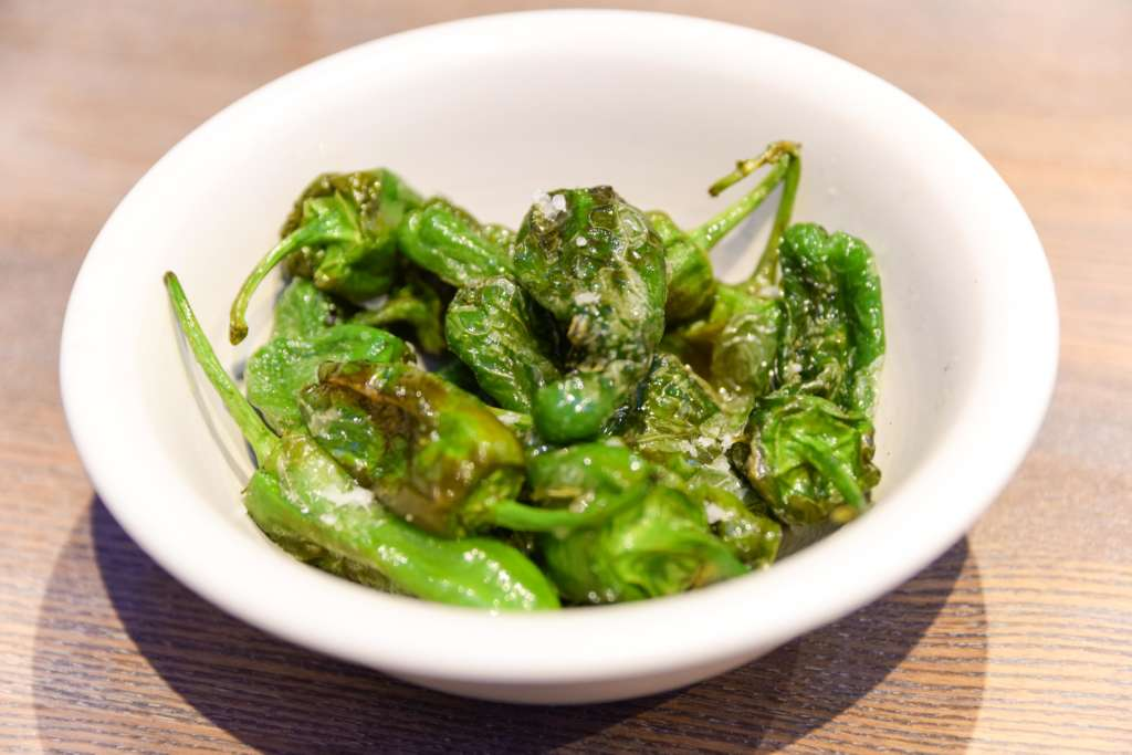 Padron peppers with sea salt