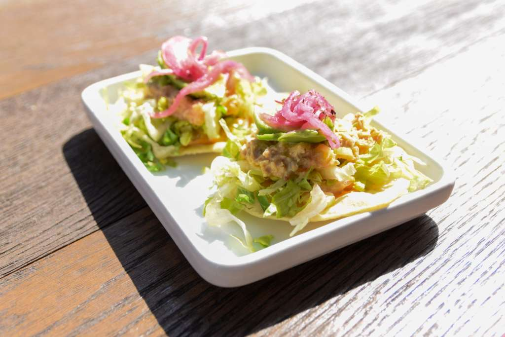 Wahaca Devon crab and avocado tostadas