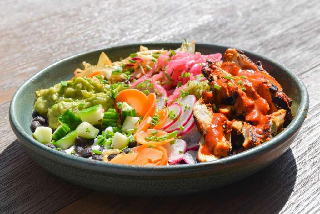Wahaca grilled chicken rainbow bowl