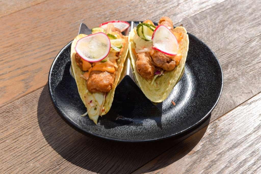 Wahaca sustainable battered fish tacos